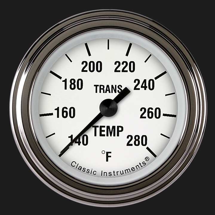 "Picture of White Hot 2 1/8"" Transmission Temperature Gauge"