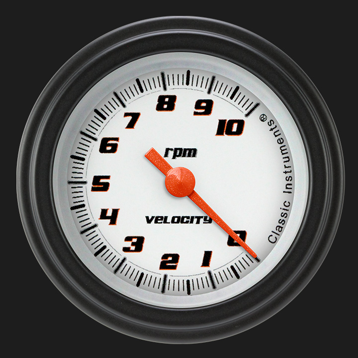"Picture of Velocity White 2 1/8"" Tachometer"