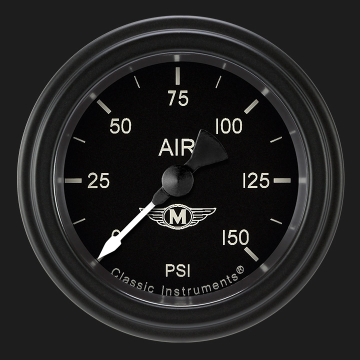 """Picture of Moal Bomber 2 1/8"""" Air Pressure Gauge"""