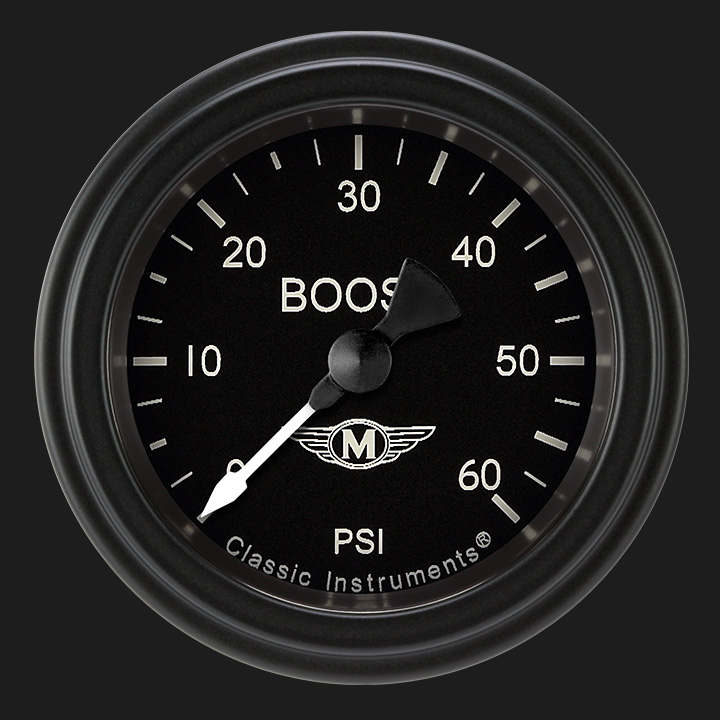 """Picture of Moal Bomber 2 1/8"""" Boost Gauge, 60 psi"""