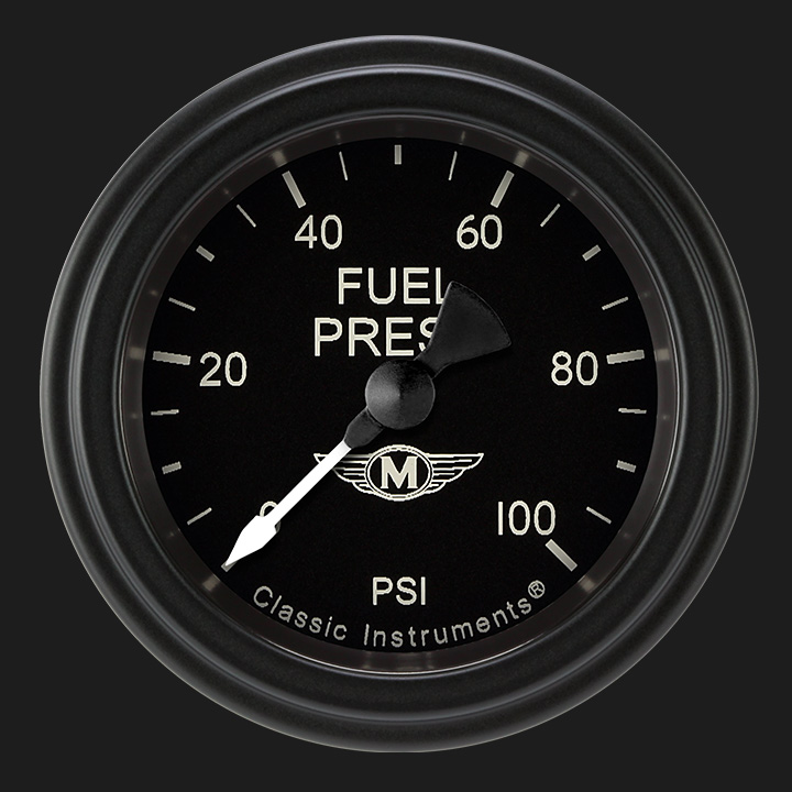 """Picture of Moal Bomber 2 1/8"""" Fuel Pressure Gauge, 100 psi"""