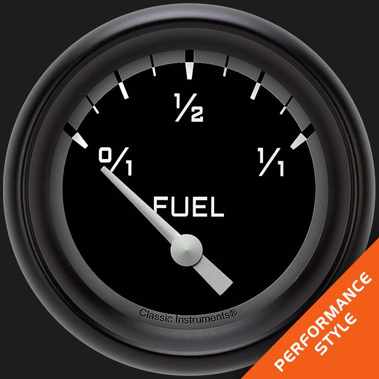 "Picture of Autocross Gray 2 5/8"" Fuel Gauge, 75-10 ohm"