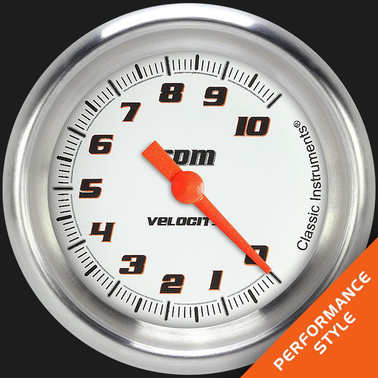 "Picture of Velocity White 2 5/8"" Tachometer"