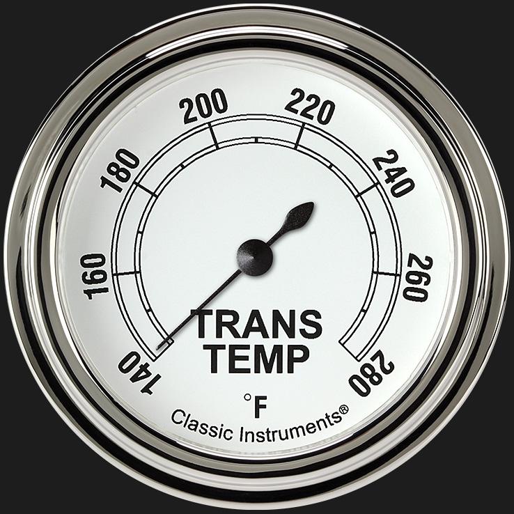 "Picture of Classic White 2 5/8"" Transmission Temperature Gauge"