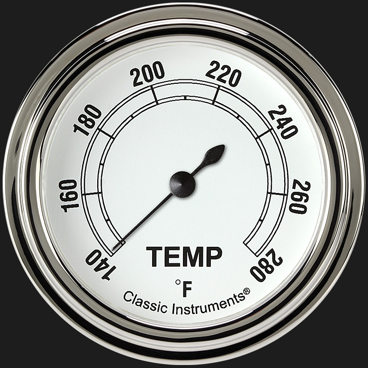 """Picture of Classic White 2 5/8"""" Water Temp Gauge"""