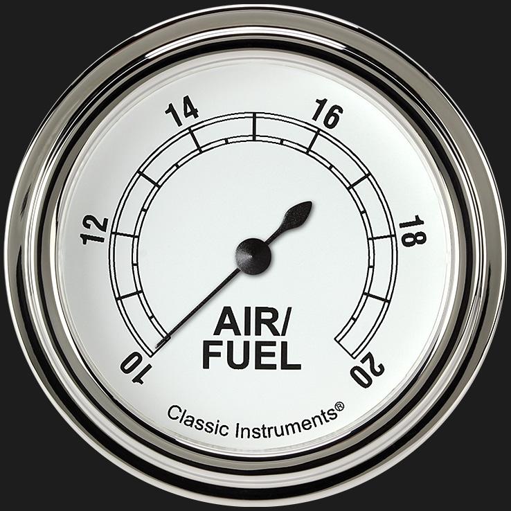 "Picture of Classic White 2 5/8"" Air Fuel Ratio Gauge"