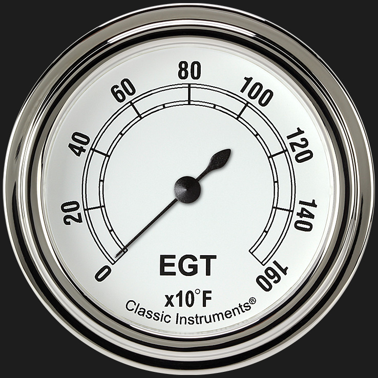 """Picture of Classic White 2 5/8"""" Exhaust Gas Temp. Gauge"""