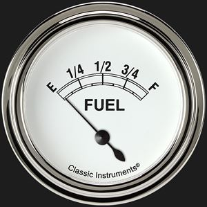 """Picture of Classic White 2 5/8"""" Fuel Gauge"""