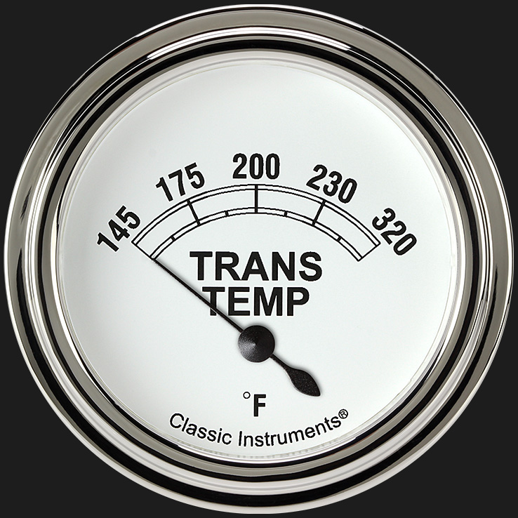 "Picture of Classic White 2 5/8"" Transmission Temperature Gauge"