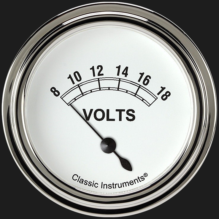 "Picture of Classic White 2 5/8"" Volt Gauge"