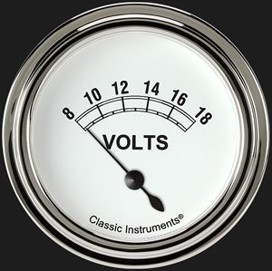 """Picture of Classic White 2 5/8"""" Volt Gauge"""