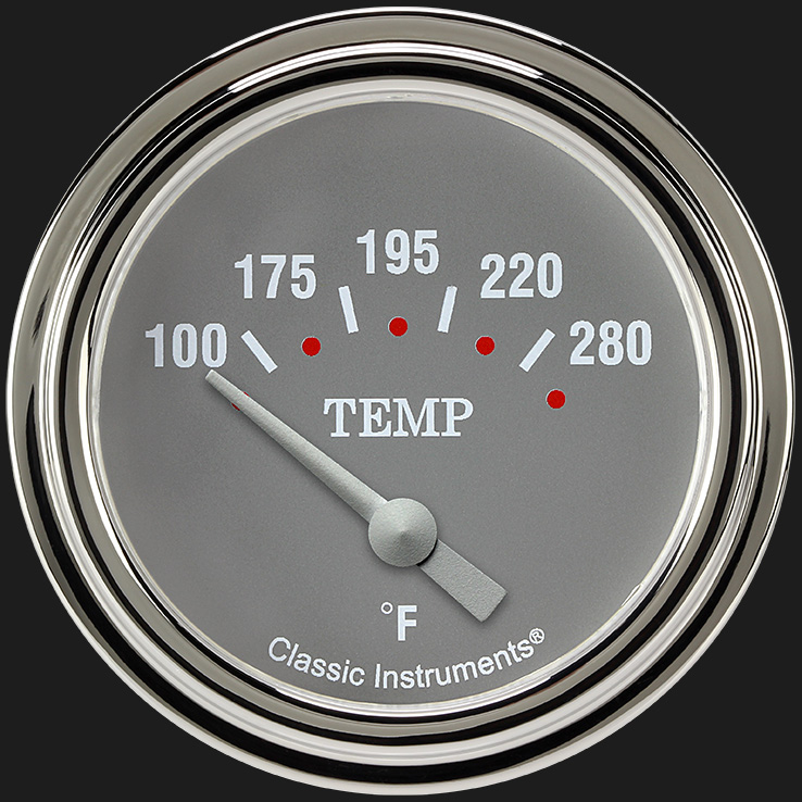 "Picture of Silver Gray 2 5/8"" Water Temperature Gauge"
