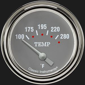 """Picture of Silver Gray 2 5/8"""" Water Temperature Gauge"""