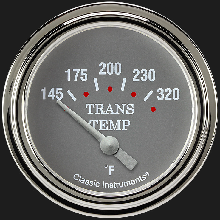 "Picture of Silver Gray 2 5/8"" Transmission Temperature Gauge"
