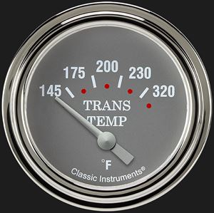 """Picture of Silver Gray 2 5/8"""" Transmission Temperature Gauge"""