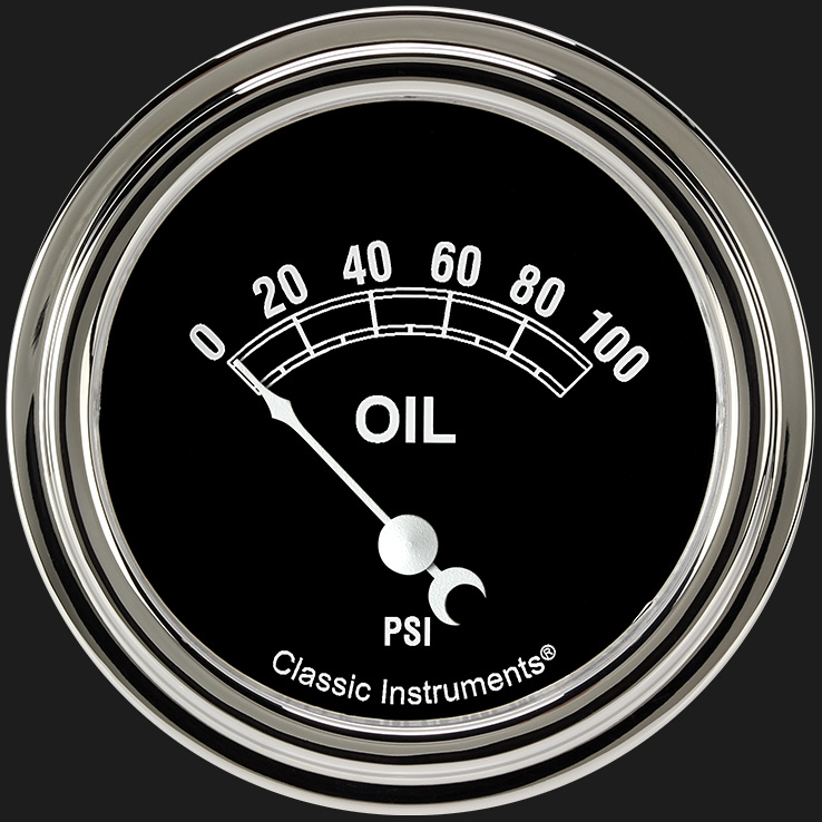 "Picture of Traditional 2 5/8"" Oil Pressure Gauge"