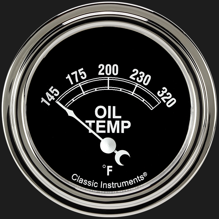 "Picture of Traditional 2 5/8"" Oil Temperature Gauge"