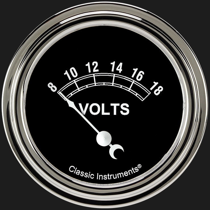 "Picture of Traditional 2 5/8"" Volt Gauge"