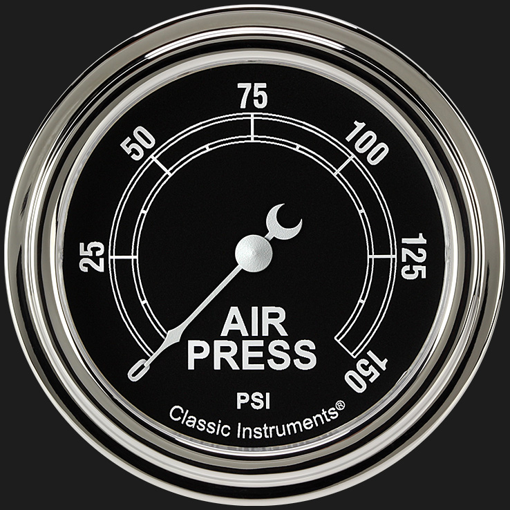 """Picture of Traditional 2 5/8"""" Air Pressure Gauge"""