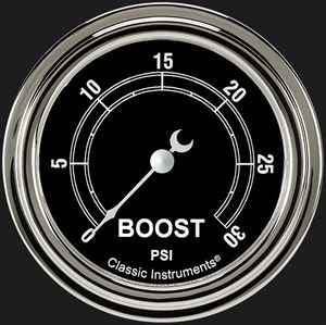 """Picture of Traditional 2 5/8"""" Boost Gauge, 30 psi"""