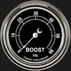 """Picture of Traditional 2 5/8"""" Boost Gauge, 60 psi"""