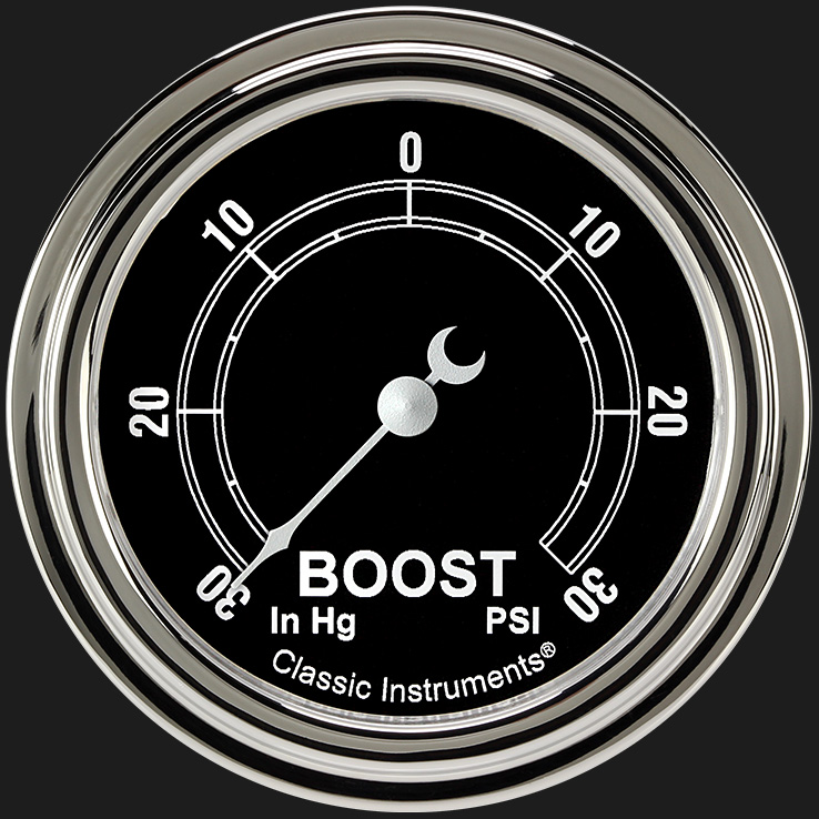 """Picture of Traditional 2 5/8"""" Boost/Vac Gauge"""
