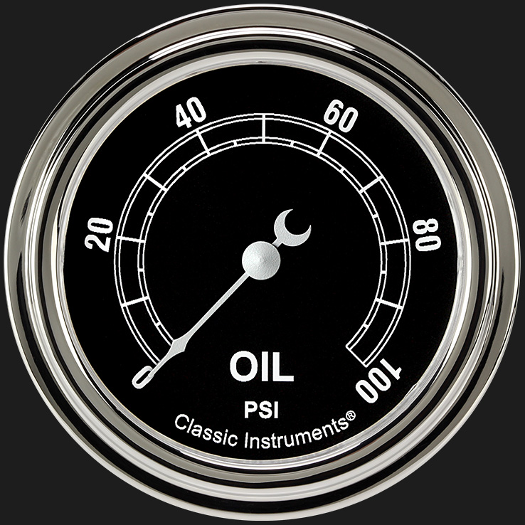 """Picture of Traditional 2 5/8"""" Oil Pressure Gauge"""