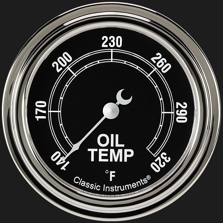 """Picture of Traditional 2 5/8"""" Oil Temperature Gauge"""