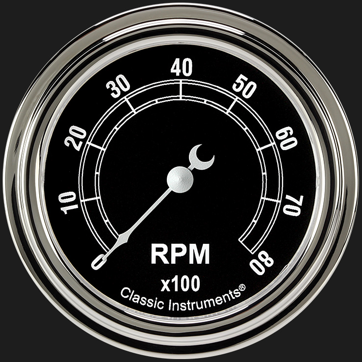 """Picture of Traditional 2 5/8"""" Tachometer"""