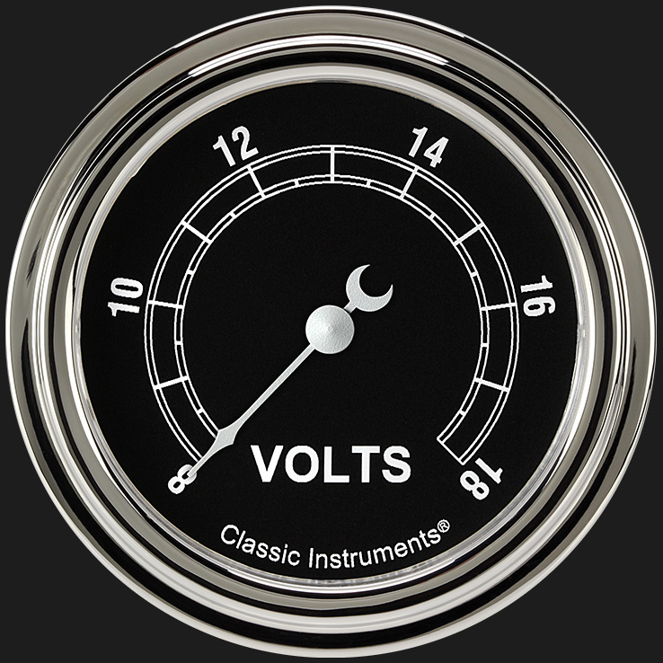 """Picture of Traditional 2 5/8"""" Voltage Gauge"""