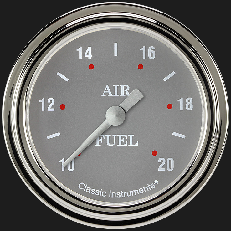 "Picture of Silver Gray 2 5/8"" Air Fuel Ratio Gauge"
