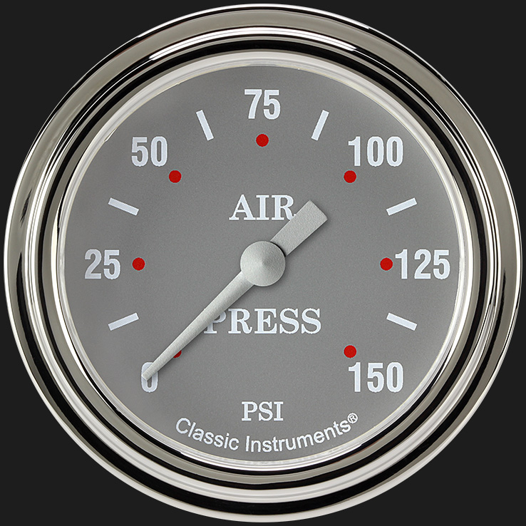 "Picture of Silver Gray 2 5/8"" Air Pressure Gauge"