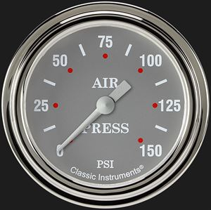 """Picture of Silver Gray 2 5/8"""" Air Pressure Gauge"""