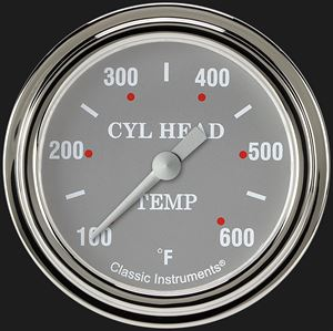 """Picture of Silver Gray 2 5/8"""" Cylinder Head Temp. Gauge"""