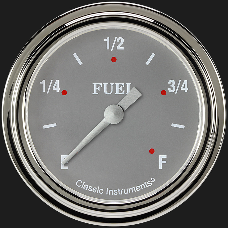 "Picture of Silver Gray 2 5/8"" Fuel Gauge"