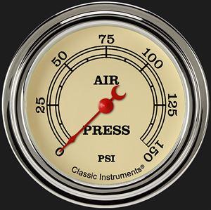 """Picture of Vintage 2 5/8"""" Air Pressure Gauge"""