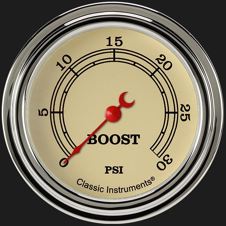 "Picture of Vintage 2 5/8"" Boost Gauge, 30 psi"
