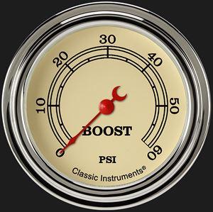 "Picture of Vintage 2 5/8"" Boost Gauge, 60 psi"