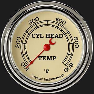 "Picture of Vintage 2 5/8"" Cylinder Head Temp. Gauge"