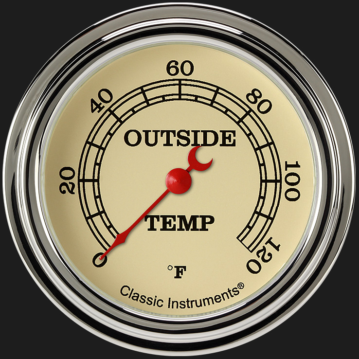 """Picture of Vintage 2 5/8"""" Outside Air Temp Gauge"""