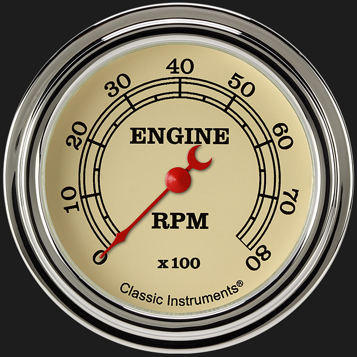"""Picture of Vintage 2 5/8"""" Tachometer"""