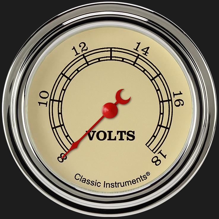 "Picture of Vintage 2 5/8"" Voltage Gauge"