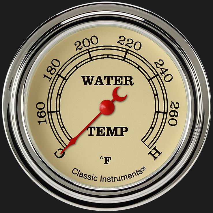 "Picture of Vintage 2 5/8"" Water Temperature Gauge"