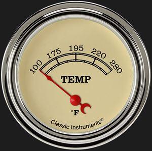 "Picture of Vintage 2 5/8"" Water Temp Gauge"