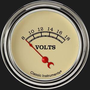 """Picture of Vintage 2 5/8"""" Volt Gauge"""