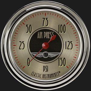 """Picture of All American Nickel 2 5/8"""" Air Pressure Gauge"""