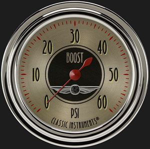 """Picture of All American Nickel 2 5/8"""" Boost Gauge, 60 psi"""