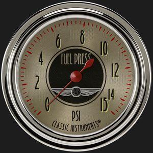 "Picture of All American Nickel 2 5/8"" Fuel Pressure Gauge, 15 psi"