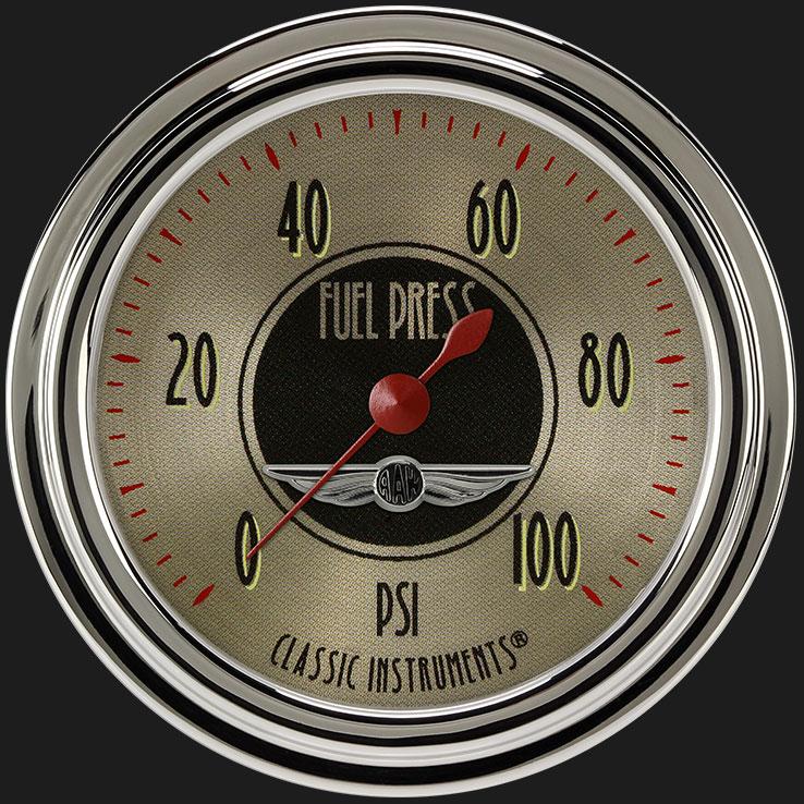 "Picture of All American Nickel 2 5/8"" Fuel Pressure Gauge, 100 psi"