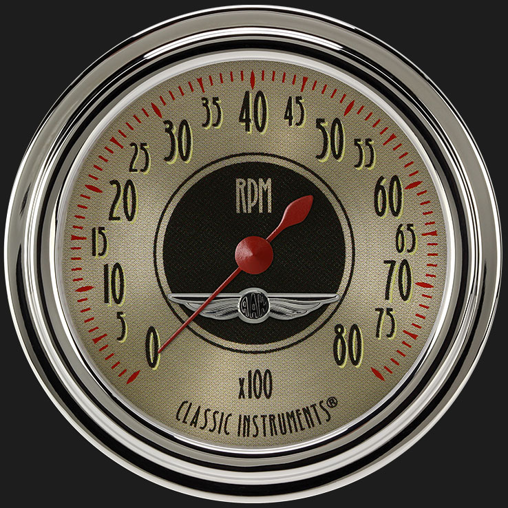 """Picture of All American Nickel 2 5/8"""" Tachometer"""
